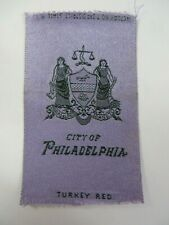 Vintage c.1910 Turkey Red Tobacco Cigarette Silk City PHILADELPHIA, PENNSYLVANIA