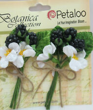 Petaloo Botanica Collection 2 Bunches of Berry with Flower & leaf Picks