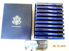 1999-2009 50 State Quarter PROOF Sets in Mint Storage Box