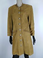 SOLO BY BEATE DIESEL TRENCH DI PELLE VINTAGE Cappotto Giacca Tg It: 40 Donna