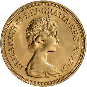 Great Britain Gold Sovereign (.2354 oz) - Elizabeth II Young BU - Random Date