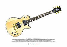 Mick Ronson's 1968 Gibson Les Paul Custom ART POSTER A3 size