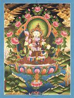 "Thangka Dorje Sempa Vajrasattva  Yab Yum ""Kunstdruck"" Meditation Nepal T14"
