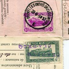 Belgium 1934-50 Parcel Post Permit Train Locomotive Clabeca Mons