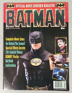Batman Official Movie Souvenir Magazine 130 Color Photos Pin-Up Topps 1989 VF