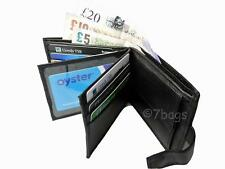 Mens Mans Gents Soft Leather Wallet Credit Card Wallets Black Roamlite RL46
