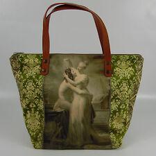 NATASHA FARINA - Sac à main velours vert - Modèle : Isaura - Vintage,Kitsch