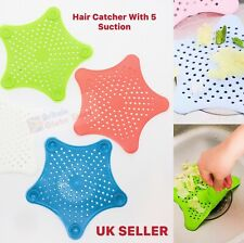 Silicone Hair Catcher Trap Shower Kitchen Bath Drain Waste Sink Strainer