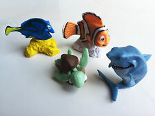 Disney Finding Nemo Cake Topper Fish Tank Cupcake Birthday Toy 4 Piece  Figures