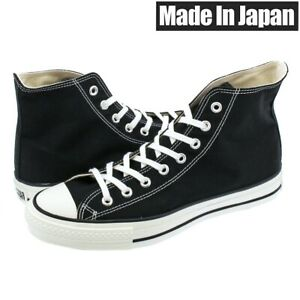 Converse Canvas All Star J HI Black MADE IN JAPAN Limited CHUCK TAYLOR NEW