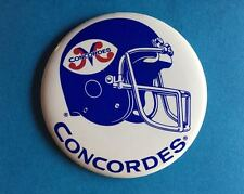 Vintage Rare Montreal Concordes CFL Football Lapel Hat Jacket Button Pin