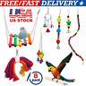 Pet Bird Swing Parrot Parakeet Budgie Cockatiel Cage Hammock Toys Hanging Toy US