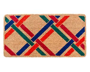 Zerbino cocco ingresso entrata antiscivolo 40x75 cm tappeto esterno porta