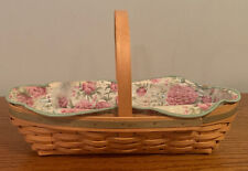 New ListingLongaberger 2001 May Series Peony Basket Liner And Protector