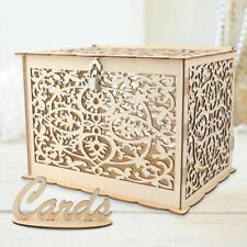 Wedding Card Box Baby Shower Decorations Wooden Vintage Card Gift Box With Lock