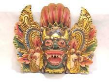 Wooden Barong Lion Mask Hand Carved Wood Bali Wall Decor Art #967