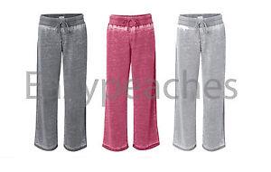 NEW Ladies VANITY ZEN Size S-2XL Burnout Fleece Women's Sweatpants Jumper Pant