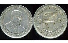 ILE MAURICE   1 rupee 1987