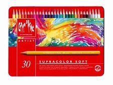 Caran D'Ache 30 Pencils Coloured Watercolor Supracolor Soft - Box Metal