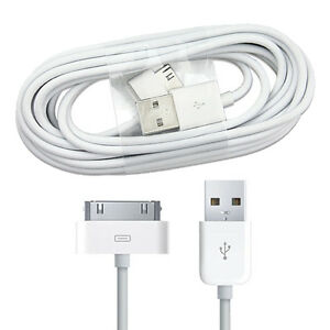 2 x 1 meter 30 pin USB DATA SYNC CHARGING CABLE iPhone 3 3G 3 4 4S iPod iPad