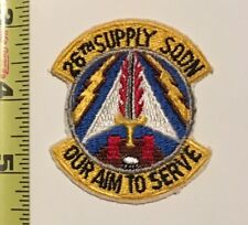 USAF Patch - 26th Supply Squadron 'Our AIM To Serve'