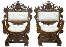 Walnut Armchairs Victorian Chairs (1837-1901)