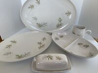 """FRANCISCAN """"WHIRL-A-GIG"""" Whitestone Ware Platters Divided Bowl Butter Creamer"""