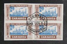 TIMBRES D'ESPAGNE : PRO SEMINARIO ZARAGOZA 1945 BLOC DE 4 Oblitéré - TBE