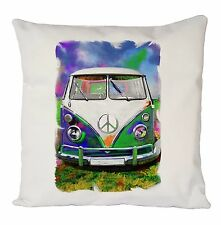 VOLKSWAGEN RETRO CUSHION COVER PILLOW CASE FASHION VINTAGE IDEAL GIFT PRESENT