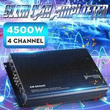 4500W Car Amplifier 4 Channel DC 12V Class A/B Power Amp Audio 3D Stereo  M