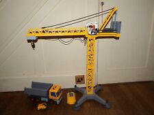Playmobil 5466 Moving Crane remote control + Tipper truck construction playset