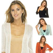 Summer Womens Sheer Shrug Cardigan Sweater Ruffle Lightweight Knit Fashion Tops