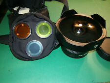 Cool old Arsat 30mm f/3.5 fisheye lens w/ case, caps, filters Kiev 88 Mount