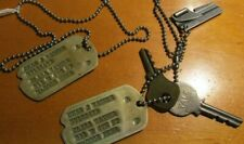 WWII US Army 97th Infantry Division 386th Regiment Dog Tags NOK McCook Nebraska