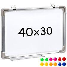 Tableau blanc magnétique mémo ardoise mural 40 x 30 cm + 12 Magnets