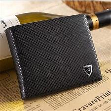 Men Leather Wallet Bifold Pockets ID Credit Card Clutch Cente Money Purse Black
