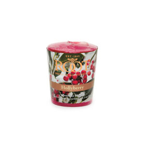 Root 20hr Votive Candles, Hollyberry, Set of 6 (1568)