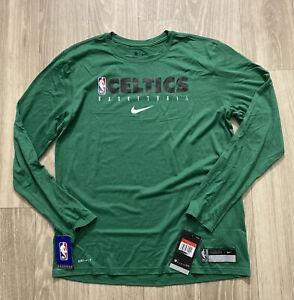 Nike Boston Celtics NBA Player Issued Green Warm-Up Long Sleeve SzL (CD2660-352)