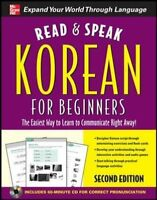 Read and Speak Korean for Beginners with Audio CD, 2nd Edition (Read and Spea…