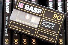 BASF CHROME SUPER II 90 HIGH BIAS TYPE II BLANK AUDIO CASSETTE - GERMANY 1989