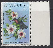 ST.VINCENT SG489a 1976 35c HUMMINGBIRDS NO WMK MNH