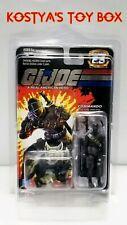GI Joe SNAKE EYES & TIMBER (BLACK) 2007 MOC 25TH Factory Sealed Action Figure