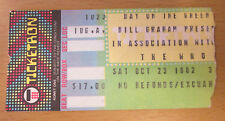 1982 Day On The Green The Clash The Who Concert Ticket Stub Oakland Joe Strummer