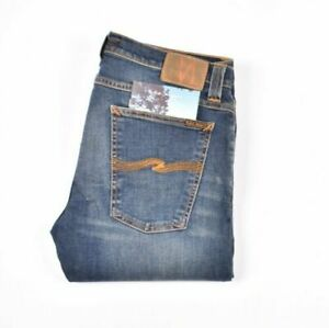 Nudie Jeans Tube Tom Blue Nights Blau Herren Jeans IN Größe 34/32