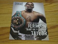 "Everlast Boxer JERMAIN ""Bad Intentions"" TAYLOR signed 5x7 Promotional Photo COA"
