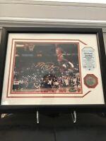 RARE Michael Jordan Autographed 8x10 Framed Upper Deck 1987- 1988 Slam Dunk