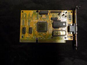 Western Digital Paradise GPU VGA ISA Card 62-003306-800 61-603632-000 XLR8VAL