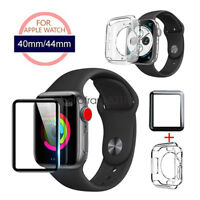 For Apple Watch SE Series 6 5 4 3 Full Cover Screen Protector TPU Case 40mm 44mm