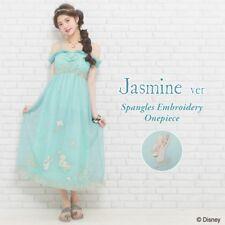 Secret Honey Sequin embroidery Maxi Dress One Piece Aladdin Jasmine Disney