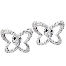 Chopard Women's White Gold & Diamond Butterfly Stud Earrings 83/7445-1002 New!!